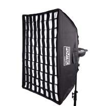 """Fovitec - 16""""x24"""" Rectangle Softbox with Grid & Bowens Speedring for Photo & Video"""