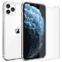 FlexGear Clear Case for iPhone 11 Pro and 2 Glass Screen Protectors (Clear)