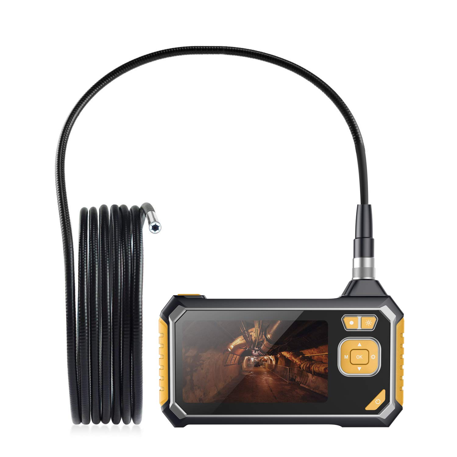 CSHope Industrial Endoscope, Inspection Borescope 1.18inch to 197inch Long Focal Length, 1080P HD Professional Snake Video Inspection Camera, 4.3inch Digital LCD Screen and 8mm Waterproof Cable-9.8ft