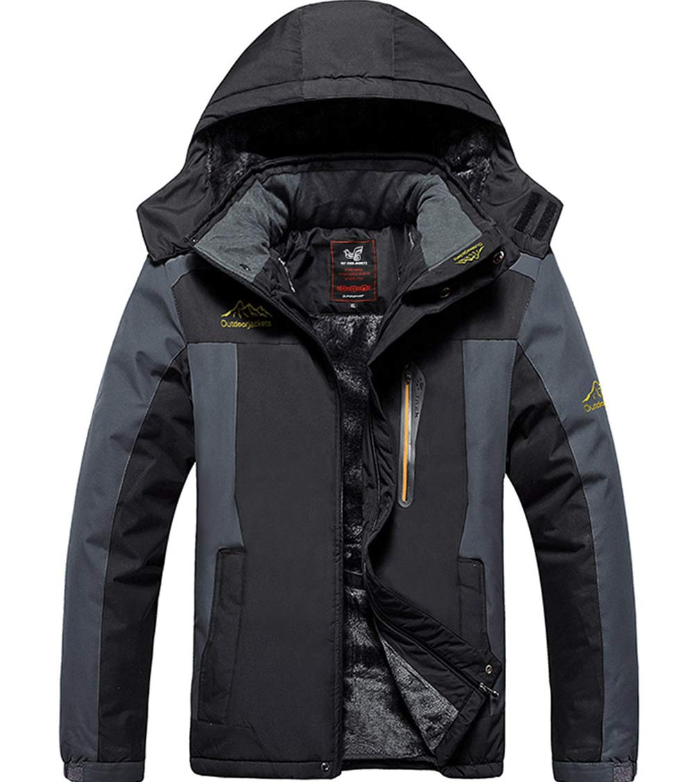 XinYangNi Men's Mountain Waterproof Ski Snow Jacket Winter Windproof Rain Jacket