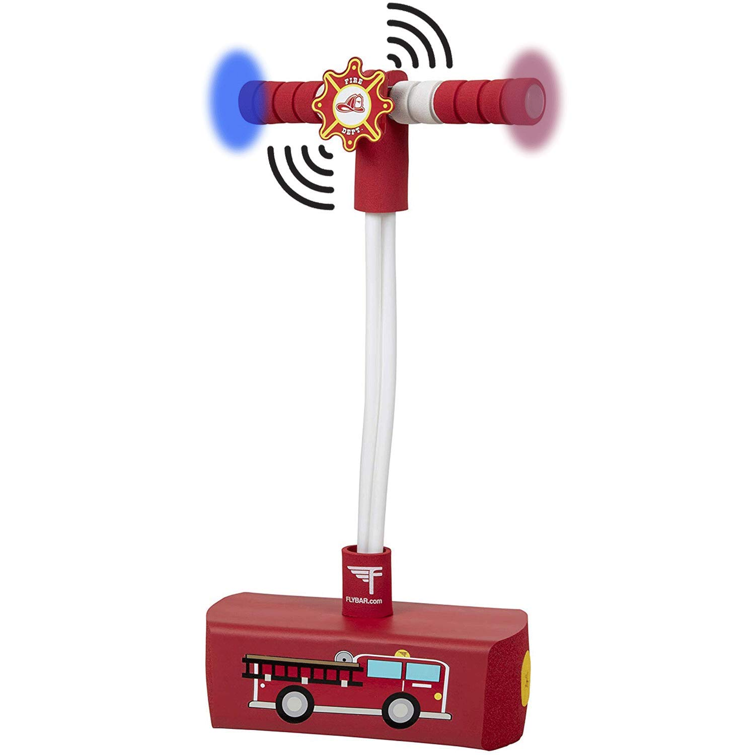 Flybar My First Foam Pogo Jumper for Kids Fun and Safe Pogo Stick for Toddlers, Durable Foam and Bungee Jumper for Ages 3 and up, Supports up to 250lbs (Fire Truck)