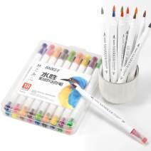 BAOKE Colored Calligraphy Pen, Drawing Pen, Art Dual Tip Brush Fine Tip Paint Marker Set for Adults D289 (18 Colors)