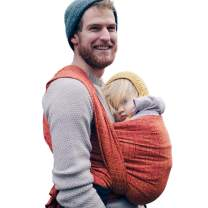 DIDYMOS Woven Wrap Baby Carrier Prima Ruby/Mandarin (Organic Cotton), Size 5