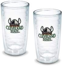 Tervis 1080124 Cleveland State University Emblem Tumbler, Set of 2, 16 oz, Clear