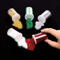 Baker Ross Christmas Glitter Shakers, Festive Arts and Craft (Pack of 5)