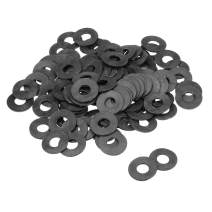 uxcell Nylon Flat Washers for M10 Screw Bolt 25mm OD 2mm Thick 100PCS