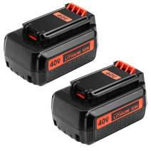 2.5AH Replace Black and Decker 40V Battery for LBX36 LBXR36 LBXR2036 LBX2040 Lithium Ion Battery 2-Pack