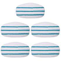 KEEPOW 5 Pack Microfibre Steam Mop Pads Compatible PurSteam ThermaPro 10-in-1