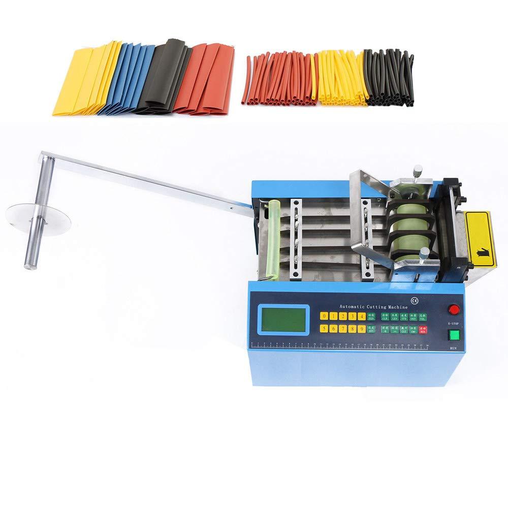 MXBAOHENG YS-250W Auto Heat-Shrink Tube Cutting Machine Auto Tube Cable Pipe Cutting Machine for Belt/Tube/Wire/Sheet/Film/Tape/Sleeve/Rubber/Plastic Webbing Cutting Width:0-250mm 500W (220V)