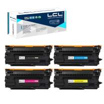 LCL Remanufactured Toner Cartridge Replacement for HP 655A CF450A CF451A CF452A CF453A M681f M682z M652dn M653dh M653dn (4-Pack Black Cyan Magenta Yellow)