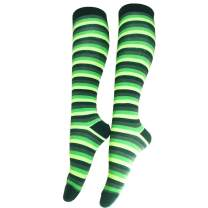 CHANGGER St. Patrick's Day Thigh High Stocking Knee Socks - Lucky Shamrock For Irish Ireland Green Lucky Gifts For Women