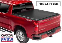 "Gator ETX Soft Roll Up Truck Bed Tonneau Cover | 53110 | Fits 2014 - 2018, 2019 Ltd/Lgcy GMC Sierra & Chevrolet Silverado 1500 6'6"" Bed Bed 