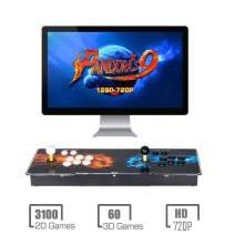 HAAMIIQII Pandora Treasure 9s Arcade Game Console - 3160 Games Pre-Loaded, Support 3D Games, Search/Save/Hide/Pause Games, 1280x720P Full HD, 4 Players Online Game, 2 Player Game Controls