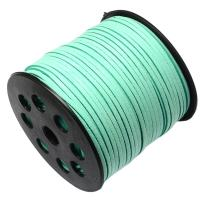 Pandahall 90m/295feet/98yard/roll 3x1.4mm Faux Suede Cord Roll String Leather Lace Beading Thread Suede Lace Lether Cording for Jewelry Makings Aquamarine