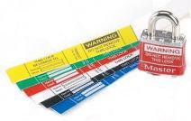 Panduit PSL-PL1BLUY Self-Laminating Padlock Label, Blue (25-Pack)