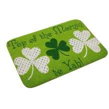Ladiy Rectangle Non-Slip Door Mat Bedroom Kitchen Flannel Print Floor Mat Doormats