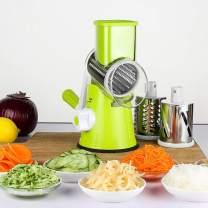 LEKOCH Vegetable Mandoline Slicer , Rotary Drum Cheese Grater with 3 Ultra Sharp Cylinders Stainless Steel Blades , Manual Hand Speedy Safe  Vegetable Shredder & Cutter