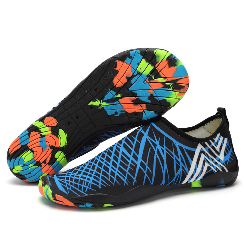PENGCHENG Mens Womens Water Sports Shoes Quick-Dry Lightweight Barefoot Drainage Sole for Swim Diving Surf Aqua Pool Beach