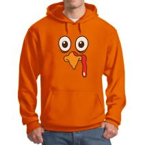Thanksgiving Hoodie - Funny Thanks Giving Turkey Big Head Face for Men