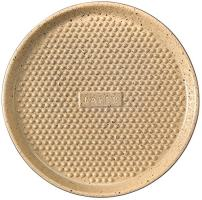 "Romertopf 99036M Lafer Series, Round Nibs Grill, Pizza Pan, BBQ Baking Dish, 12.75"", Cream, Black"