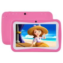 """Kids Tablet, 7"""" Display Tablet for Kids, Android 7.1 Edition Tablet with 1G+8G, Kids Software iWawa Pre-Installed (Pink Kid-Proof Case)"""
