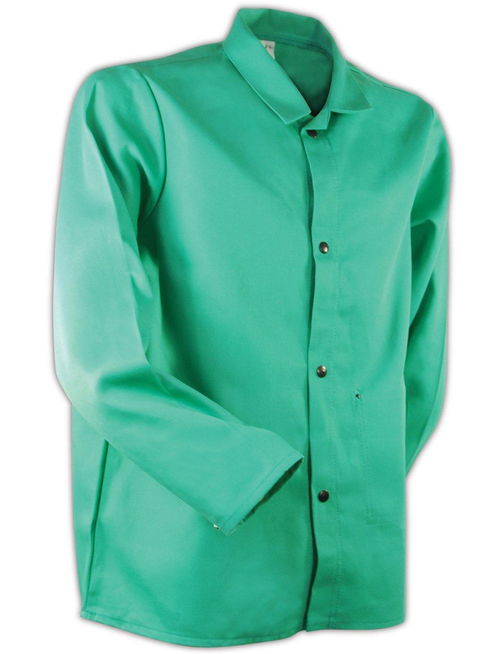 "Magid 1830XXXXXL SparkGuard Flame Resistant Cotton Standard Weight Jacket, 30"" Length, 5XL, Green"