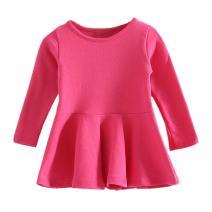 Baby Girls Shirt Long Sleeve Infant Tops Cotton Toddler Blouse Ruffle T Shirt Playwear