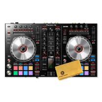 Pioneer DJ DDJ-SR2 Portable 2-channel controller Bundle with Polishing Cloth