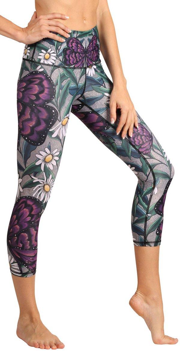 Yoga Democracy Eco-Friendly Daisy Days Leggings (Crops)