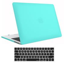 Procase MacBook Pro 13 Case 2020 2019 2018 2017 2016 Release A2159 A1989 A1706 A1708, Hard Case Shell Cover and Keyboard Skin Cover for MacBook Pro 13 Inch with/Without Touch Bar -Turquoise