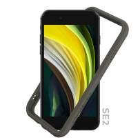 RhinoShield Bumper Compatible with [iPhone SE2 / SE (2020) / 8/7]   CrashGuard NX - Shock Absorbent Slim Design Protective Cover [3.5M / 11ft Drop Protection] - Graphite