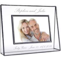 Personalized Anniversary Picture Frame Photo Gift for Couple 1st 5th 10th 15th 20th 25th 30th 35th 40th 50th Keepsake J Devlin Pic 319-46H EP553 (4x6 Horizontal)