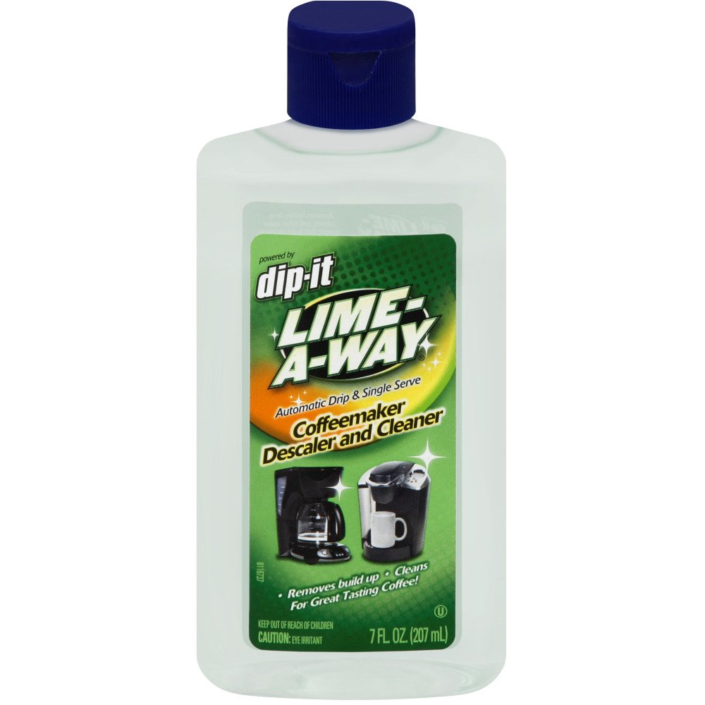 Lime-A-Way Dip-It Coffeemaker Cleaner, 56 fl oz (8 Bottles x 7 oz), Descaler & Cleaner for Drip & Single Serve Coffee Machines