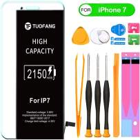 2150mAh Battery Compatible for iPhone 7, TuoFang High Capacity Lithium-ion Replacement Battery with Professional Full Set Tool Kits and Screen Protector