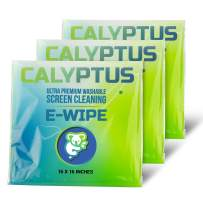 Calyptus Screen Cleaner Cloths | High Tech Microfiber Screen Cleaning Electronic Wipes | Safe for Cleaning Television, Digital Screen, Smart Phone, Laptop, Tablet | 16 x 16 XL E-Wipes, 3 Pack