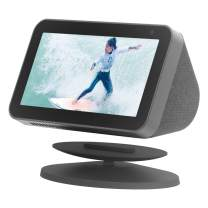 Sintron Adjustable Magnetic Stand Mount, Compatible for Echo Show 5 & Echo Show 8 with 360 Degree Rotation, Tilt Function, and Anti-Slip Base (Black)