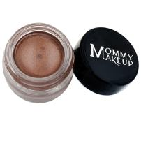 Mommy Makeup Waterproof Stay Put Gel Eyeliner with Semi-Permanent Micropigments - smudge-proof, long wearing, paraben-free - Chocolate Sizzle (milk chocolate brown with golden shimmer/golden flecks)