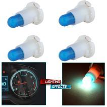 cciyu 4 Pack 12V Ice Blue T4 Neo Wedge Halogen Bulb A/C Climate Control Light Bulbs