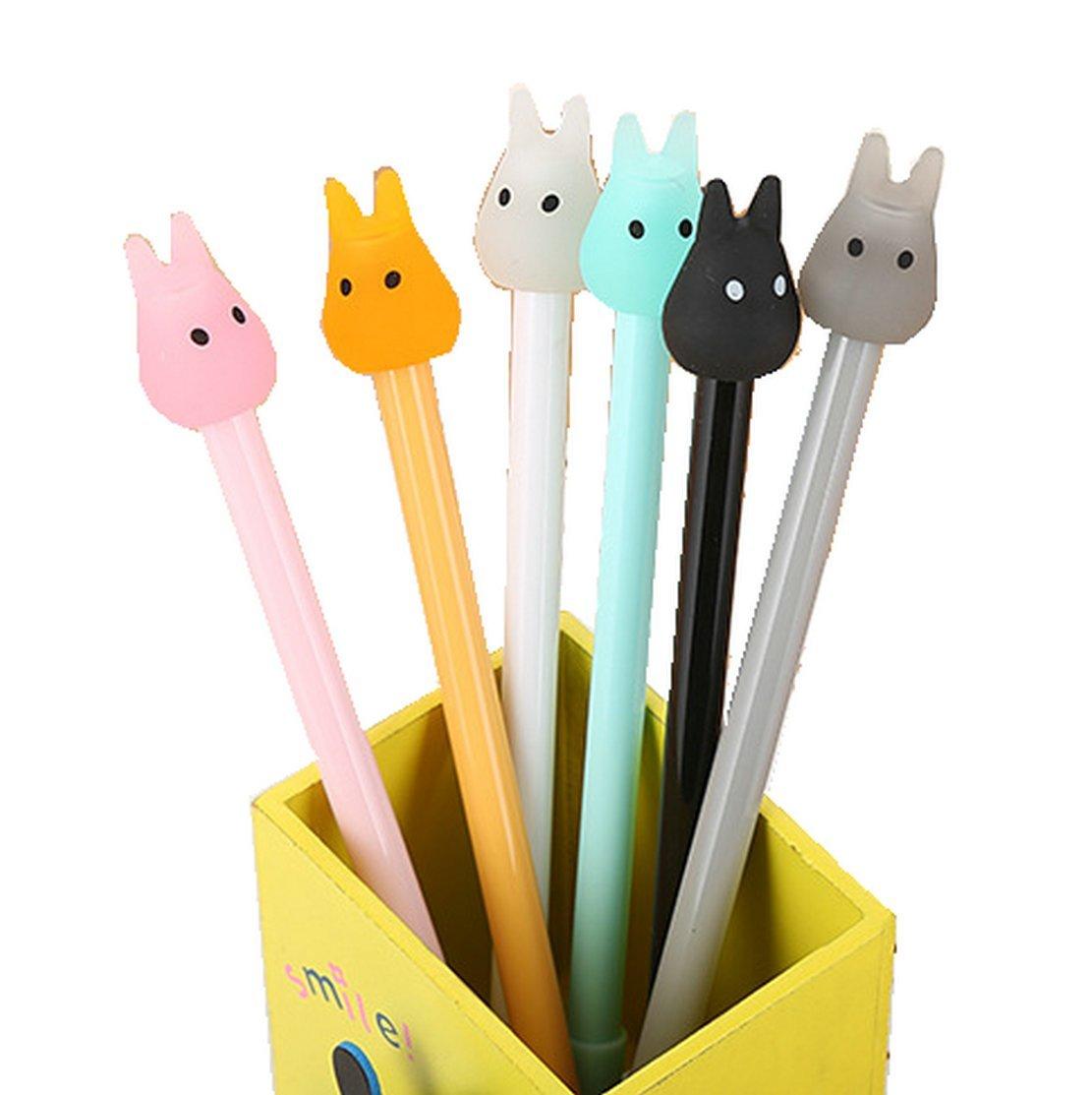 WIN-MARKET Gel Pens Set Fashion Cute Colorful Kawaii Lovely Cartoon Jelly color Totoro Gel Ball Pens Office School Stationery (8PCS)