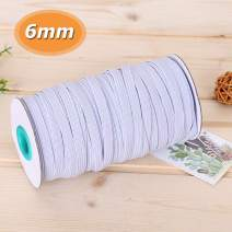 1/4 Inch Braided Elastic Band for Sewing 100 Yards White Heavy Stretch High Elasticity Knit Elastic Spool Rope Cord for Sewing Craft DIY
