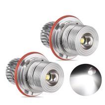 VANJING 2PCS 10W LED Angel Eyes Halo Ring Marker Light Bulb Compatible for BMW 5 6 7 Series X3 X 5 (Fit E39 E53 E60 E63 E64 E65 E66 E83) (10W, White)