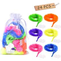 huianer 24pcs Magic Worm Toys Wiggly Twisty Fuzzy Carnival Party Favors(Random Color)