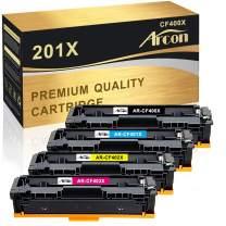 Arcon Compatible Toner Cartridge Replacement for HP 201X 201A CF400X CF401X CF402X CF403X CF400A HP Color Laserjet Pro MFP M277dw HP M252dw M277n M277c6 M252n M277 Toner (Black, Cyan, Magenta, Yellow)