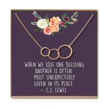 Dear Ava Miscarriage Gift Necklace: Loss of Infant, Baby, Child, in Loving Memory, 3 Asymmetrical Circles