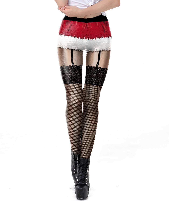 Necosthua Women's Christmas Sexy Leggings Cute Ugly Christmas Party Tights Xmas Ladies Holiday Leggings