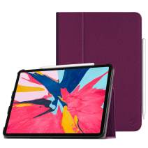 """Fintie Folio Case for iPad Pro 11"""" 2018 [Supports 2nd Gen Pencil Charging Mode] - PU Leather Folio Stand Cover with [Secure Pencil Holder] Auto Sleep/Wake for iPad Pro 11 inch, Purple"""