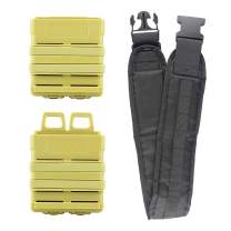 Hosim Bullet Belt Gun Bullet Darts Shoulder Strap Shoulder Strap for Elite Nerf N-Strike Blasters with 2 Pack Yellow Mag Pouch