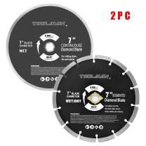 "Toolman Premium Circular Saw Blade Universal Fit 7"" For Tile Marble Concrete works with DeWalt makita Ryobi S016017"