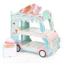 Van cake Stand, Ice Cream Truck Decorations - Ice Cream Baby Shower/Birthday Party Supplies Table Centerpiece Decor Ice Cream Cart Cake Cupcake Stand(3 Tier)