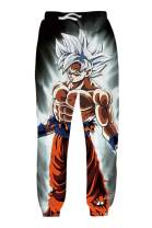 OPCOLV Women Men Dragon Ball Z Joggers Pants 3D Anime Graphic Sweatpants Sport Baggy Trousers with Drawstring